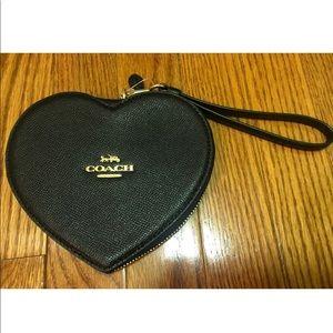 Coach Bags - Coach NWT Black Heart Wristlet/Wallet